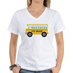 4th Grade School Bus Women's V-Neck T-Shirt