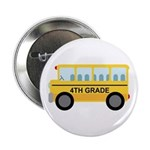 "4th Grade School Bus 2.25"" Button (10 pack)"