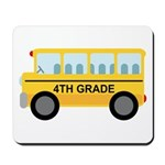 4th Grade School Bus Mousepad