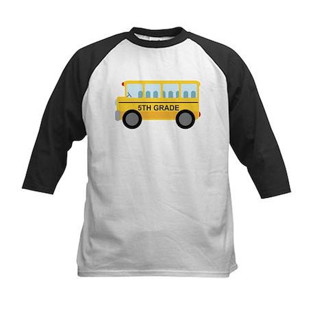 5th Grade School Bus Kids Baseball Jersey