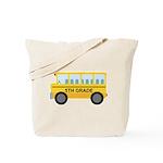 5th Grade School Bus Tote Bag
