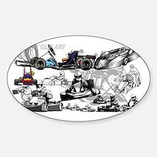 Cute Go kart racing Decal