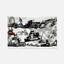 Cute Go kart racing Rectangle Magnet