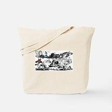 Cute Go cart racing Tote Bag