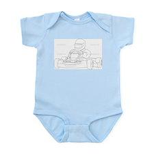Funny Go cart racing Infant Bodysuit