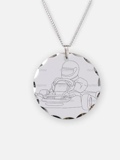 Cute Go kart racing Necklace