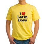 I Love Latin boys Yellow T-Shirt