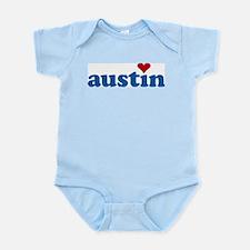 i love austin Infant Creeper