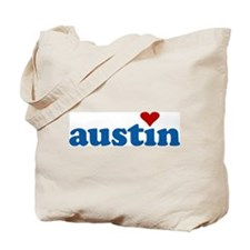 i love austin Tote Bag
