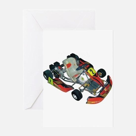 Go cart racing Greeting Card