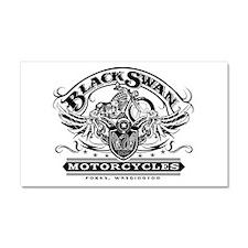 Black Swan Motorcycles Car Magnet 20 x 12