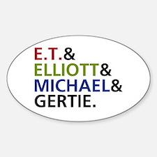 'E.T. Movie' Sticker (Oval)