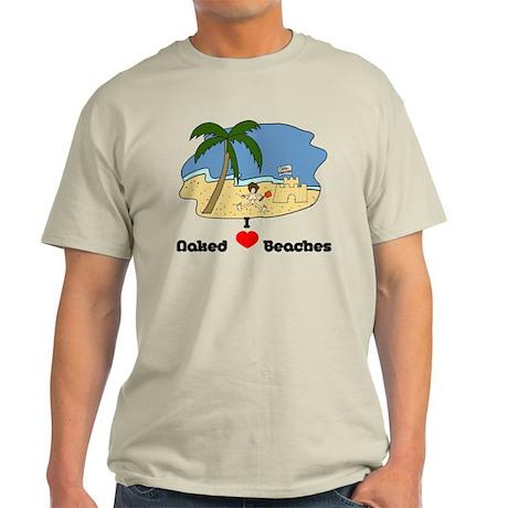 I Love Naked Beaches Light T-Shirt