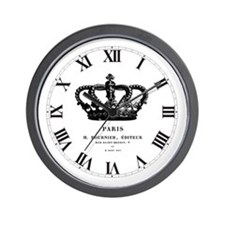 PARIS CROWN Wall Clock