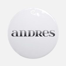 Andres Carved Metal Round Ornament