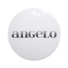 Angelo Carved Metal Round Ornament
