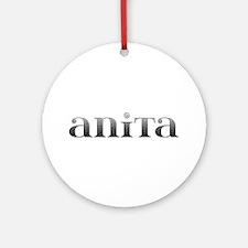 Anita Carved Metal Round Ornament