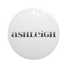 Ashleigh Carved Metal Round Ornament