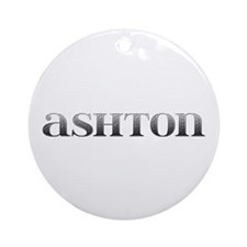 Ashton Carved Metal Round Ornament
