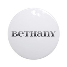 Bethany Carved Metal Round Ornament