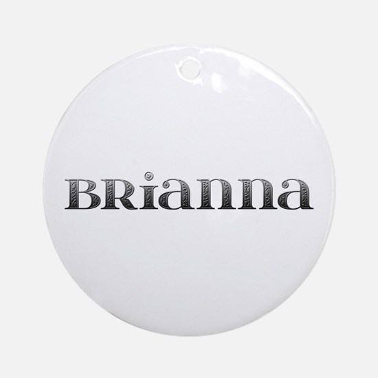 Brianna Carved Metal Round Ornament