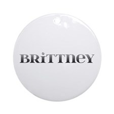 Brittney Carved Metal Round Ornament