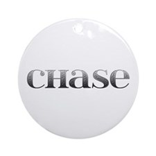 Chase Carved Metal Round Ornament