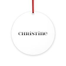 Christine Carved Metal Round Ornament