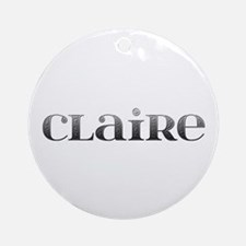 Claire Carved Metal Round Ornament