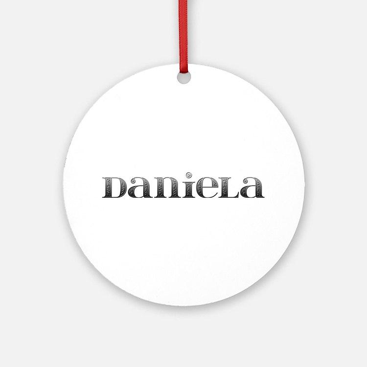 Daniela Carved Metal Round Ornament