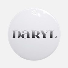 Daryl Carved Metal Round Ornament