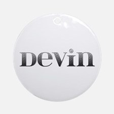 Devin Carved Metal Round Ornament