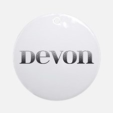Devon Carved Metal Round Ornament