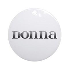 Donna Carved Metal Round Ornament