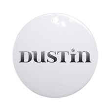 Dustin Carved Metal Round Ornament