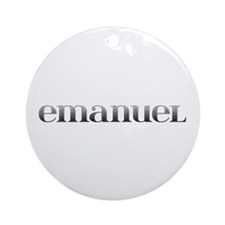 Emanuel Carved Metal Round Ornament