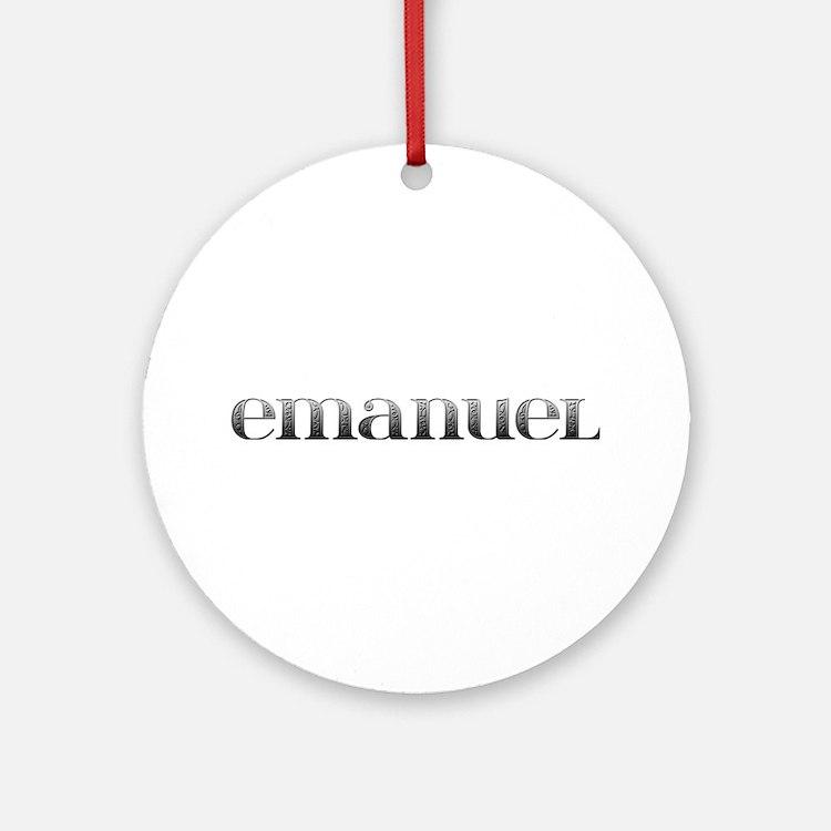 Emanuel Carved Metal Round Ornament