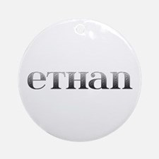 Ethan Carved Metal Round Ornament