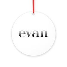 Evan Carved Metal Round Ornament