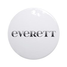 Everett Carved Metal Round Ornament