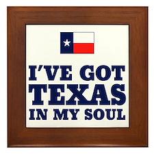 Texas in My Soul Framed Tile
