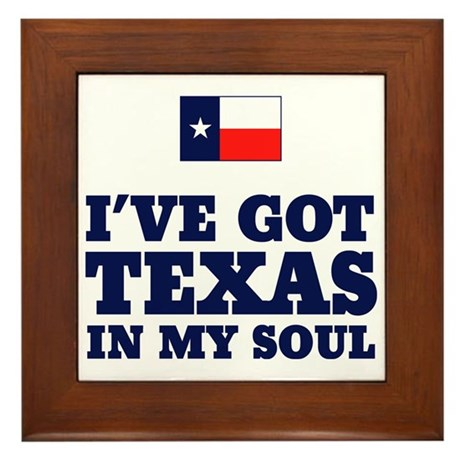 Texas in My Soul Framed Tile