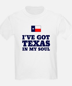 Texas in My Soul Kids T-Shirt