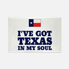 Texas in My Soul Rectangle Magnet