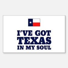 Texas in My Soul Rectangle Decal