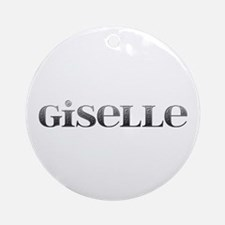 Giselle Carved Metal Round Ornament