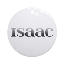 Isaac Carved Metal Round Ornament