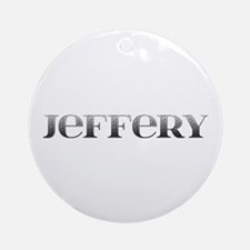 Jeffery Carved Metal Round Ornament