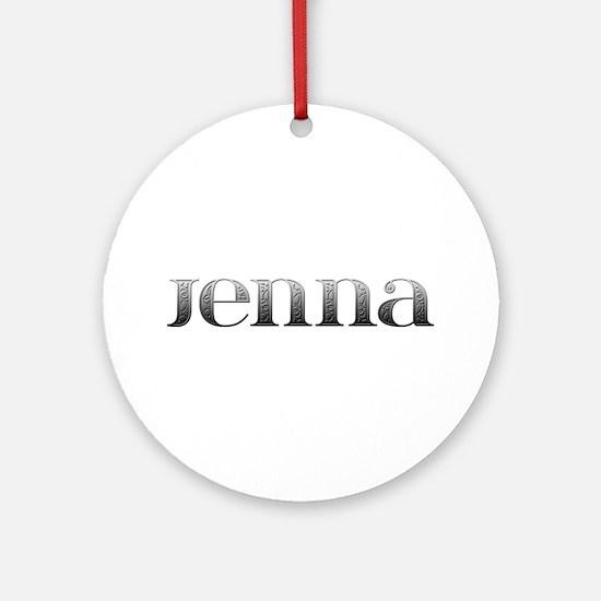 Jenna Carved Metal Round Ornament