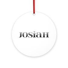 Josiah Carved Metal Round Ornament